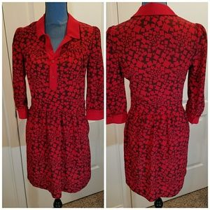 Cooperative small 3/4 sleeve dress with pockets